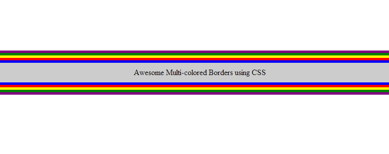 Multi colored Borders
